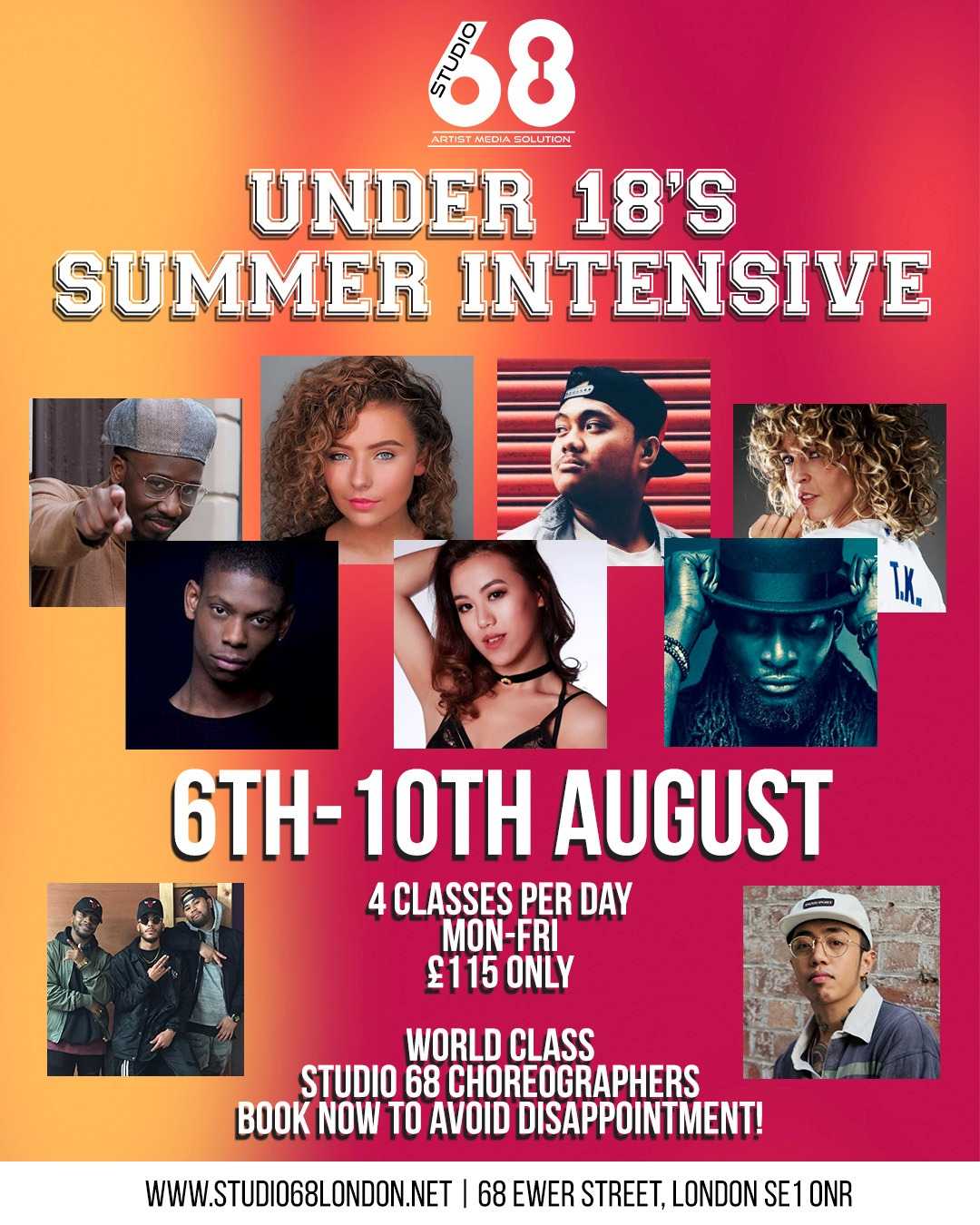 Under 18 Summer Intensive