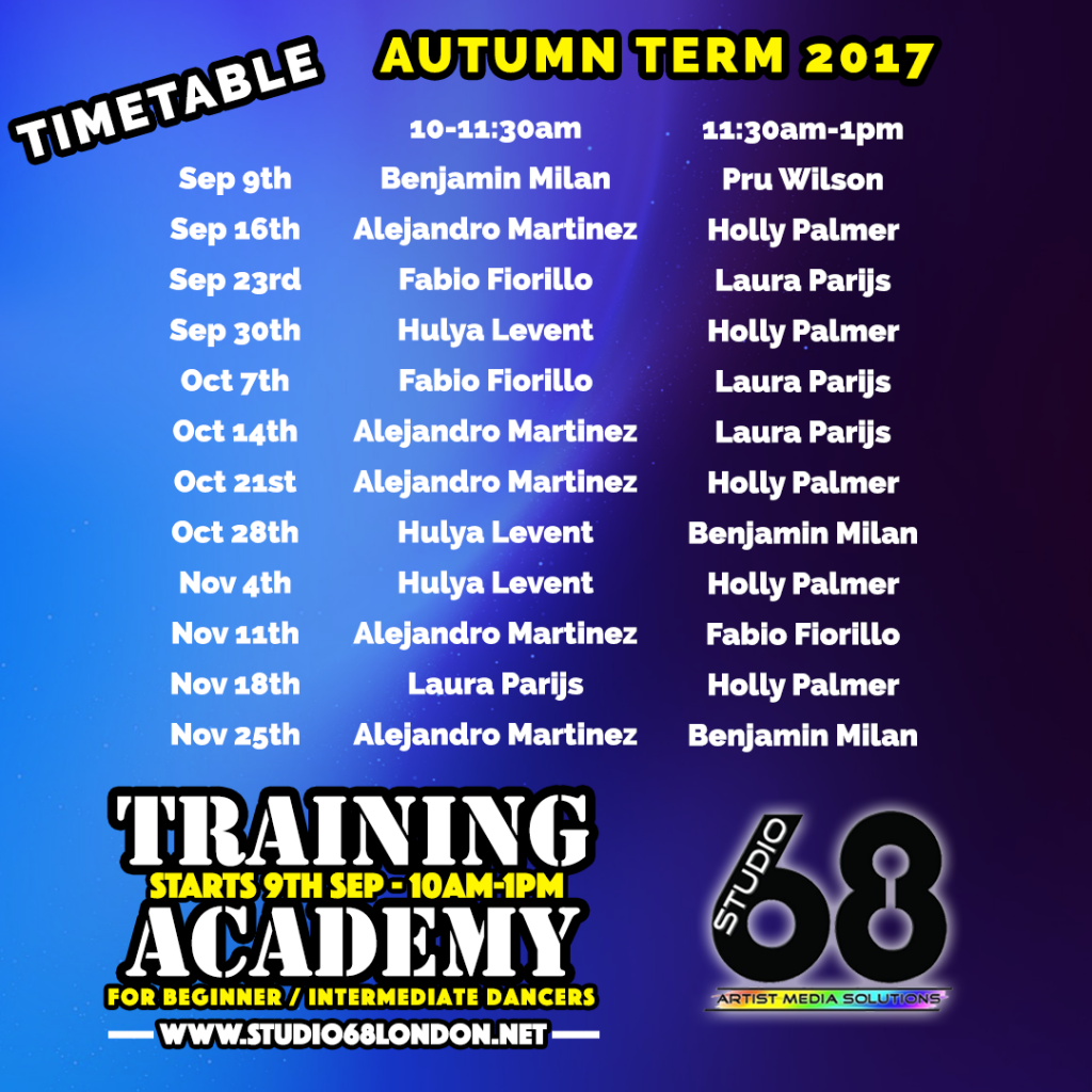 Training Academy Timetable