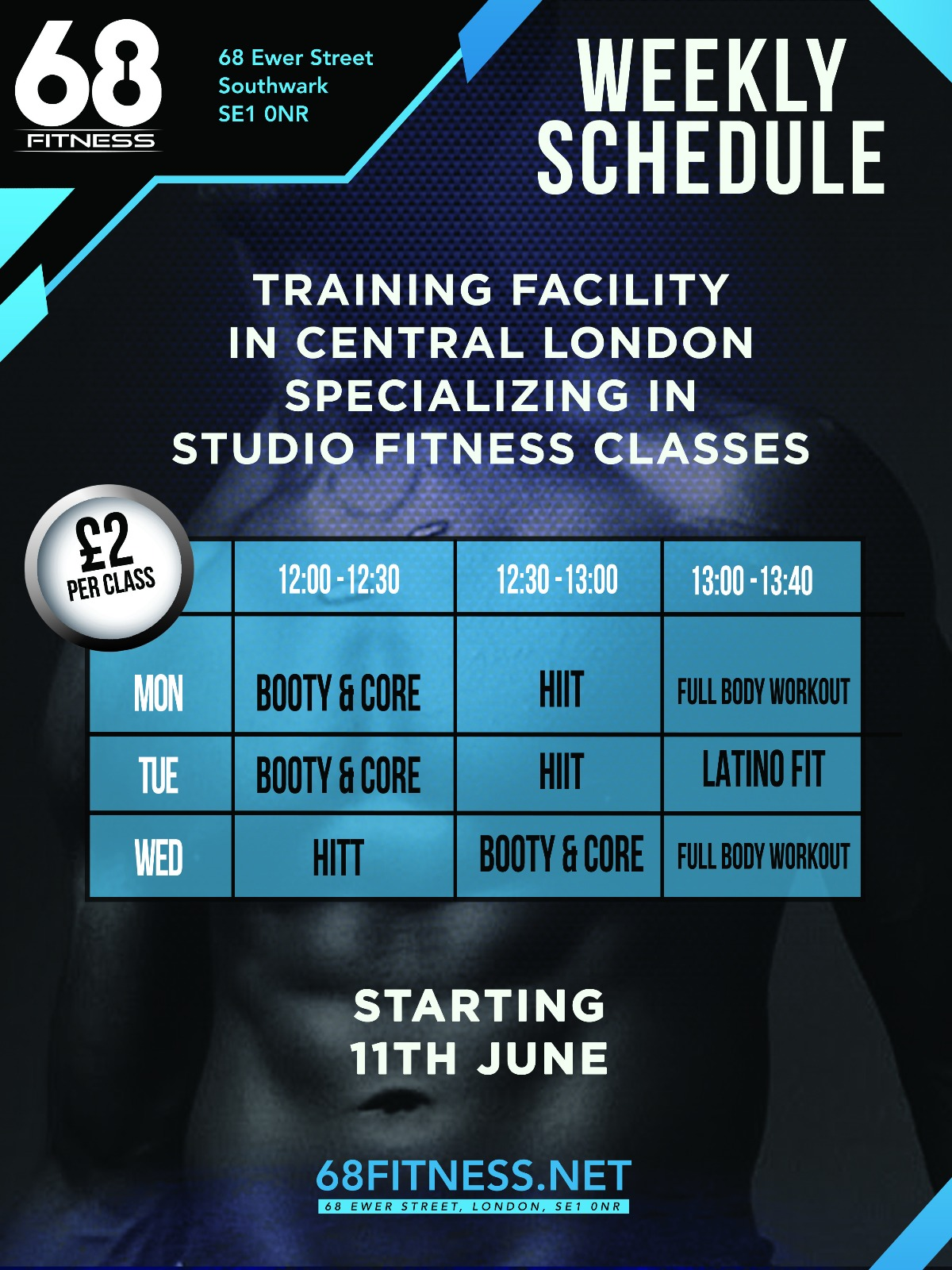 68 Fitness Timetable