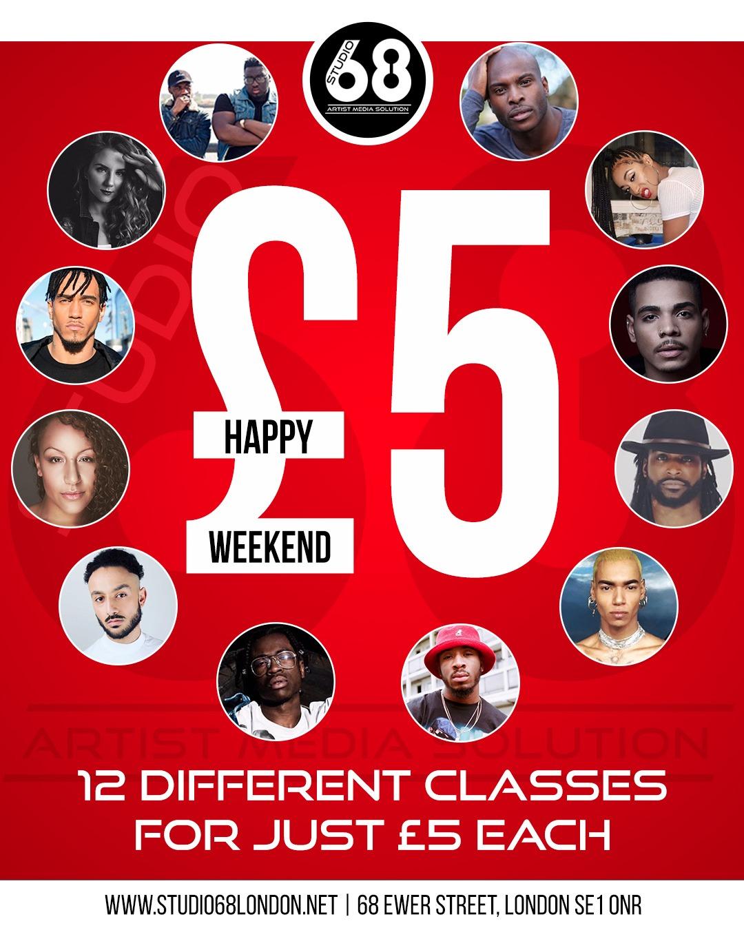 £5 Weekend Classes