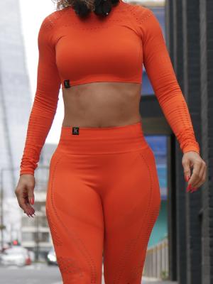 Orange Leggings and Top Set