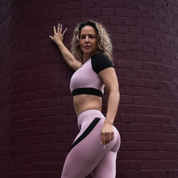 Pink & Black Leggings and Top Set